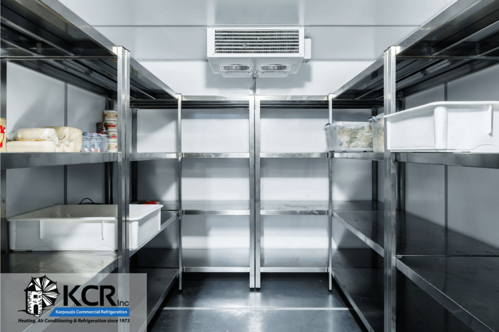 Walk-in cooler after being replaced by KCR, Inc.